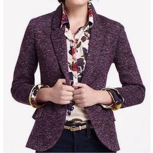 Cartonnier Anthro Dashes Purple Knit Blazer